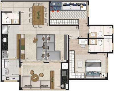 Apartamento Para Venda Em São Paulo, Água Branca, 3 Dormitórios, 1 Suíte, 2 Banheiros, 2 Vagas - Lv005a