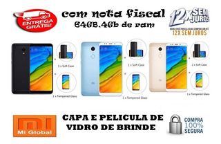 Celular Xiaomi Redmi 5 Plus 64gb Global +capa E Pelicula+nf