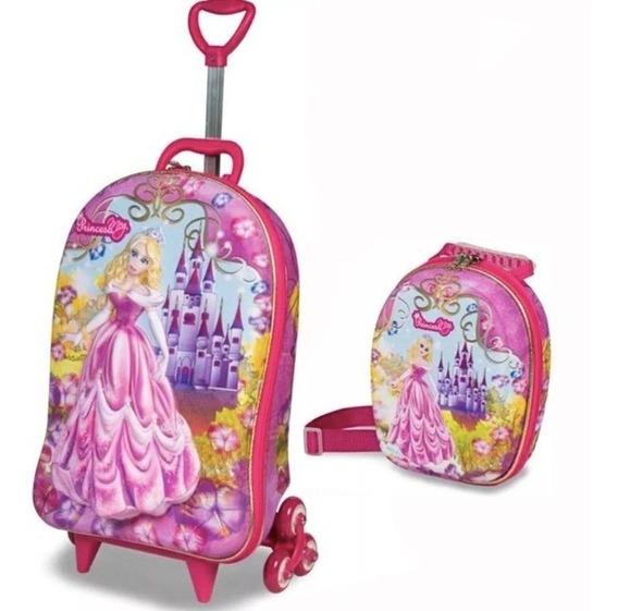 Mochilete Mochila De Rodinha Infantil Princesa Meg 3d Menina