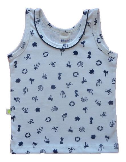 Camiseta Bebê Menino Regata 100% Algodão Estampada P - M - G