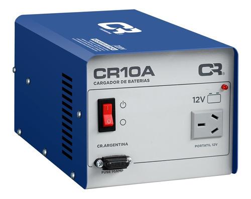 Cargador Bateria Cr 10amp 12v Carga Fija Auto Moto Lancha