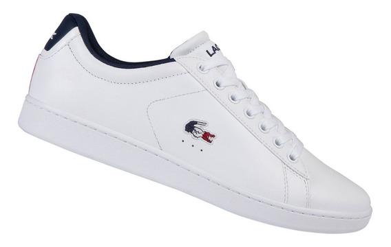 Tenis Sneakers Lacoste Carnaby Evo Tri 1 Za Originales 100%