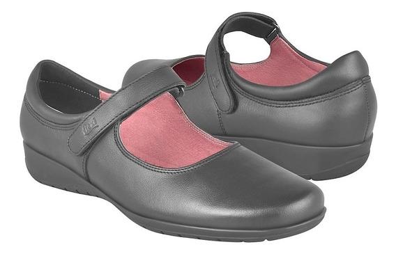 Zapato Clásico Para Dama Flexi 35802 Piel Negro