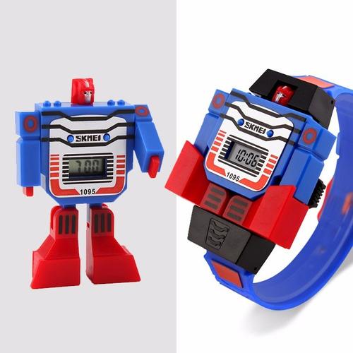 Empresario Simpático Samuel  Reloj Transformer Envio Gratis Optimus Transformers Prime | Mercado Libre