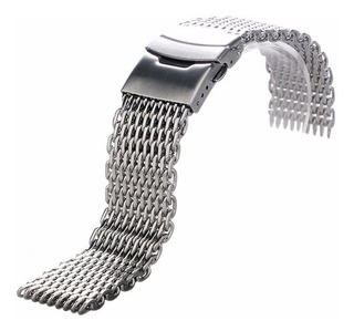 Pulseira Mesh Shark 24mm Interlock Pronta Entrega