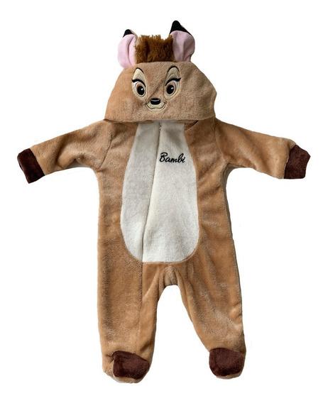 Mameluco Con Gorro Bordado Disney Bambi