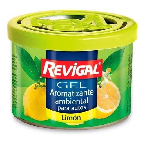 Aromantizante Perfume Gel Auto Interior Aroma Limon Revigal