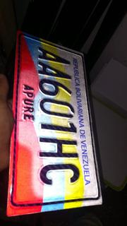 Copia Placa De Carro Y Moto (metal + Relieve)