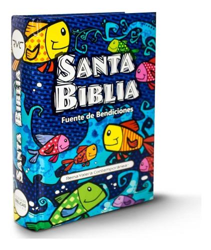 Biblia Niños Ilustrada Con Promesas Rvc Y Libros Colorear