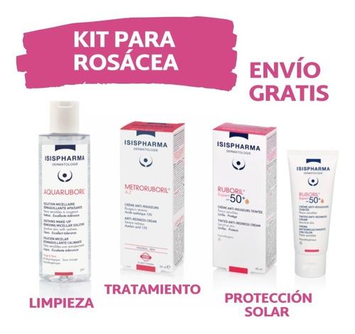 Imagen 1 de 3 de Kit Rosácea , Metroruboril Az + Limpieza+protecc Solar