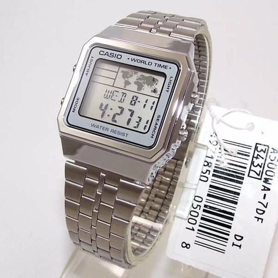 Relogio Casio A500wa World Time - Original 1ano De Garantia