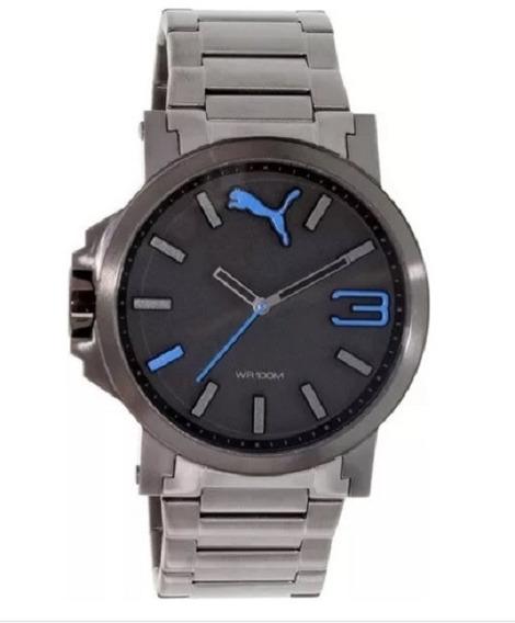 Relógio Masculino Puma Ultrasize Preto Azul