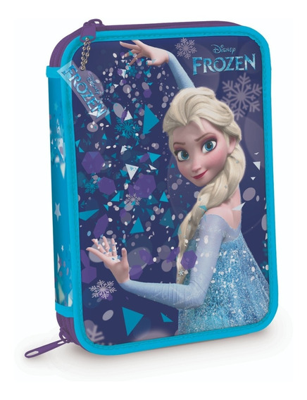 Cartuchera 2 Pisos Pvc Disney Frozen Elsa Mundo Manias