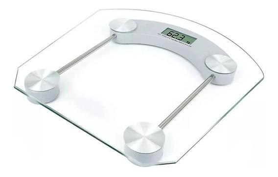Bascula Digital Personal Peso Fitness Cristal Templado /e