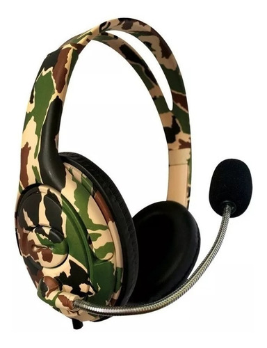 Auricular Gamer Netmak Battle Camuflado C Microfono Ps4 Xbox