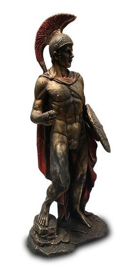 Imagem Deus Grego Ares Escultura Estatua Em Resina 25cm