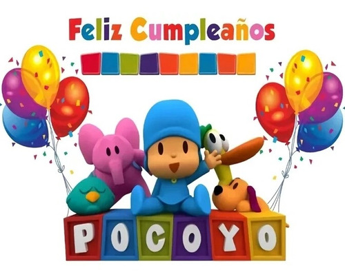 Kit Pocoyo Piñata Infantil Fiesta Cumpleaños 12 Inv+obsequio
