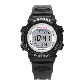 Relógio Infantil Esportivo Digital Preto C/luz Masculino
