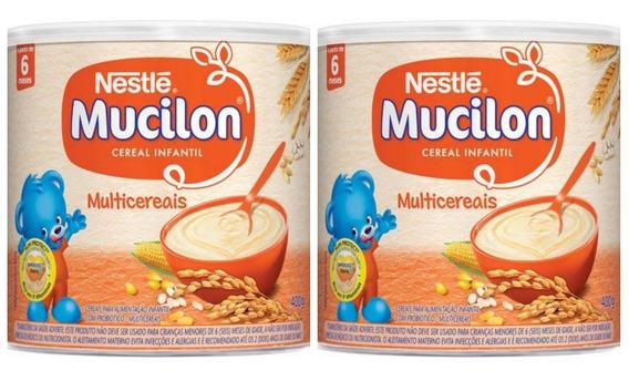 Mucilon Multicereais Lata Kit Com 2 Unidades De 400g
