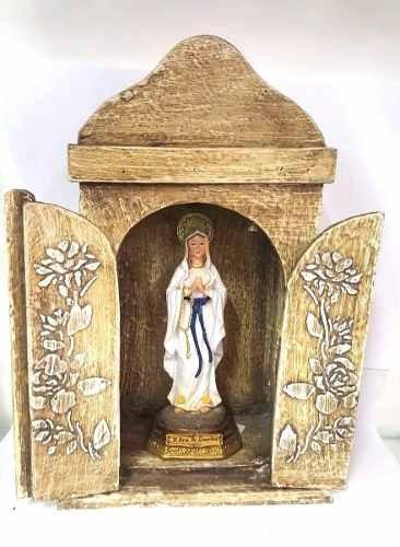 Imagem Nossa Senhora Lourdes Com Oratorio Capela Em Madeia