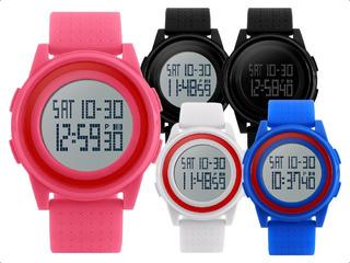 Reloj Hombre Mujer Skmei Casual Alarma Sumergible Relojes