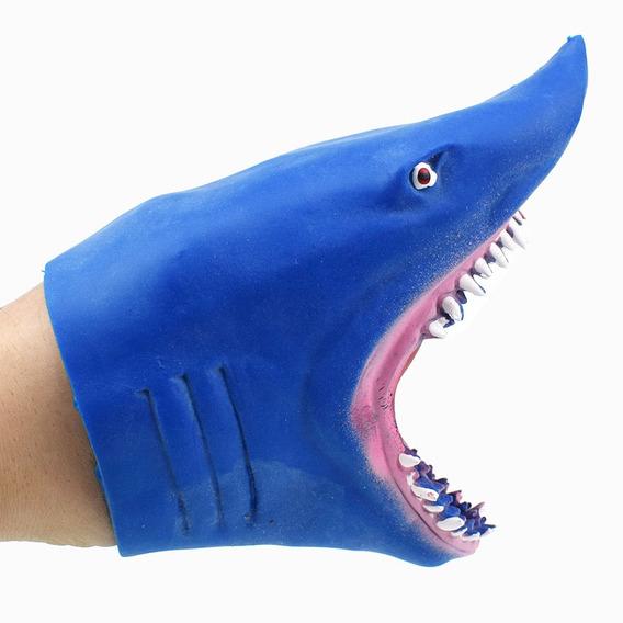 3*shark Hand Puppet Tpr Rubber Elstico Juego De Rol Histor