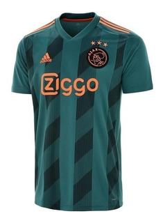 Camisa Do Ajax Preta Masculina Oficial - Mega Promoção