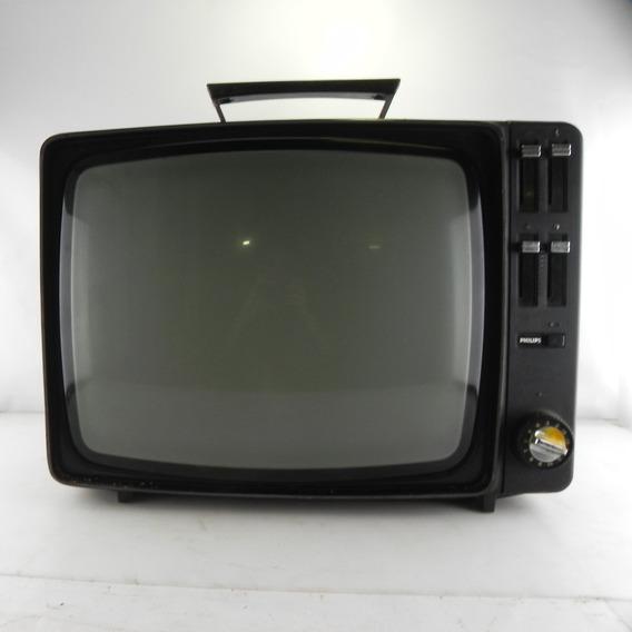 Tv Antiga Philips Decoração C/ Defeito Rara Antiguidade Un 2