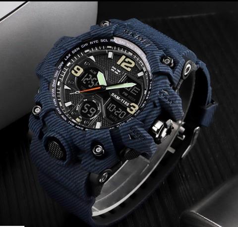 Relógio Skmei 1155 Masculino Esportivo Camuflado Promocao Hj