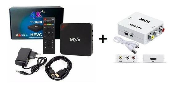 Tranforme Sua Tv Em Smart 4k 3gb/16gb + Conversor Hdmi/av