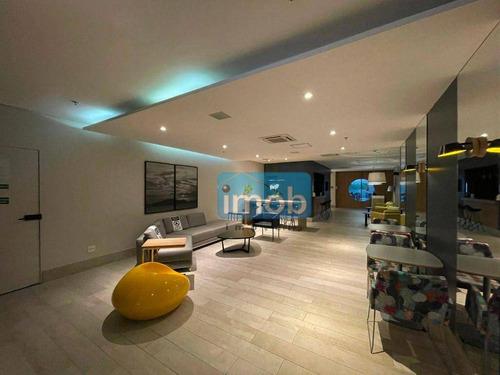 Imagem 1 de 30 de Flat Com 1 Dormitório À Venda, 34 M² Por R$ 530.000,00 - Pompéia - Santos/sp - Fl0044
