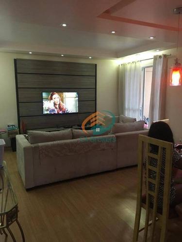 Imagem 1 de 19 de Apartamento Com 3 Dormitórios À Venda, 76 M² Por R$ 395.000,00 - Jardim Nova Taboão - Guarulhos/sp - Ap2120