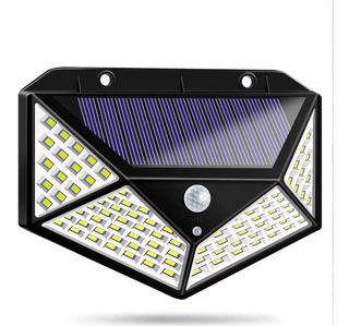 Reflector Lámpara Solar Exterior Sensor Movimiento 100 Leds