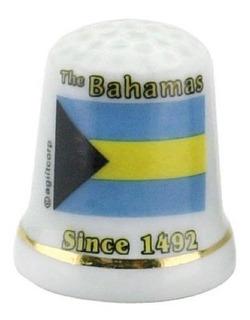 Bandera De Bahamas Caribe Perla Recuerdo Coleccionable Dedal