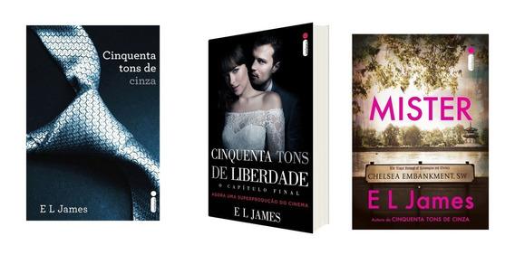 Kit Livros 50 Tons De Cinza + 50 Tons De Liberdade + Mister