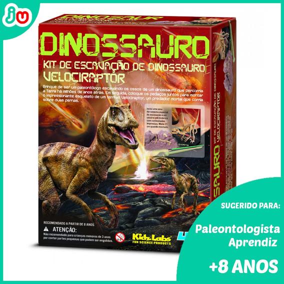 Frete Grátis Kit De Escavação De Esqueleto - Velociraptor 4m