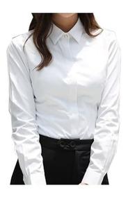 Camisa Blusa Social Feminina Slim Pronta Entrega + Brinde