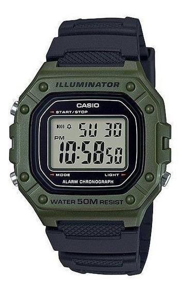 Relógio Casio W218h-3avdf. 50 Metros. 100% Original