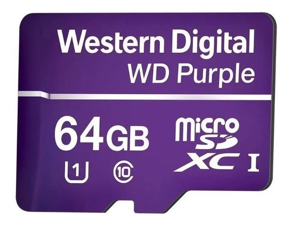 Cartão De Memória Micro Sd Wd Purple 64 Gb - Para Câmeras