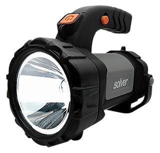 Lanterna Holofote Led Cree Recarregavel Solver Slp-401 Portátil Resistente Potente Bivolt Recarregável