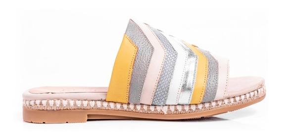 Zapatos Mujer Sandalias Chatitas Suecos Suela De Goma Cuero
