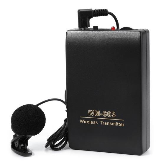 Microfone Sem Fio Lapela Com Transmissor Wireless