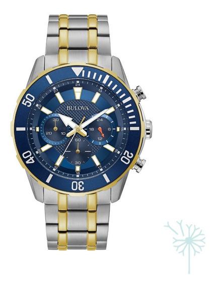 98a246 Reloj Bulova Quartz Classic Para Caballero Plateado/d