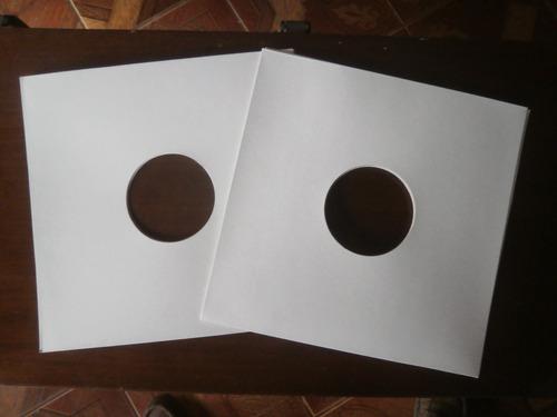 50 Capas Para Disco De Vinil Lp Djs, Papelão Branco