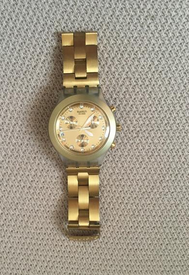 Relogio Swatch Gold Feminino Usado