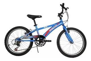 Bicicleta Mb Philco 20 Cuadro Acero Varón 6 Veloc Mod Patio