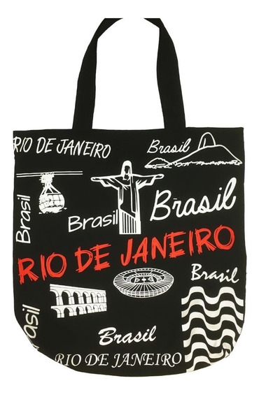 Bolsa Tecido Lembrança Rio De Janeiro