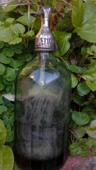 Antiguo Sifon Al Acido Cabeza Plomo Alfonso Stilo Coincide Coleccion Decoracion
