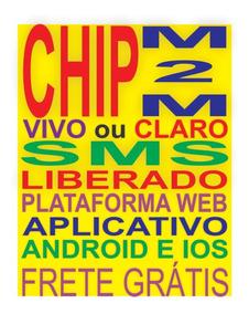 Chip Vivo Ilimitado M2m + Plataforma Plano Mensal / Coban