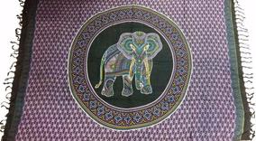 Canga De Praia Indiana Elefante E Borboleta V. Cores Modelos